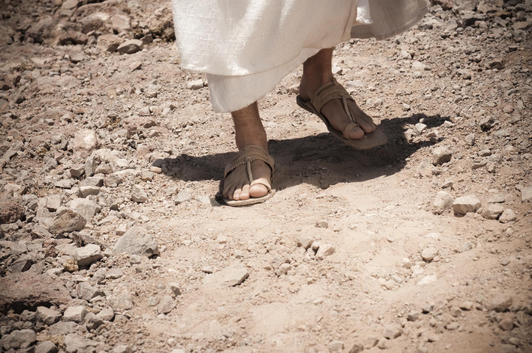 footsteps of jesus in the modern