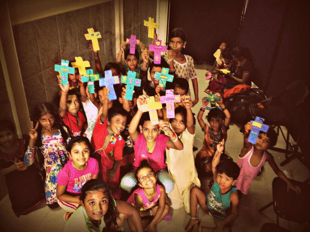 Kids with crosses