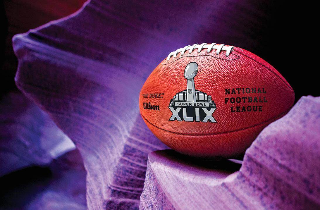 Wallpaper 2015 Super Bowl XLIX Official NFL Football 01purp 1920x1080